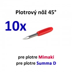 10x Plotrový nôž pre Mimaki a Summa D 45°