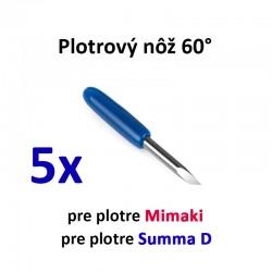 5x Plotrový nôž pre Mimaki a Summa D 60°