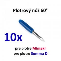 10x Plotrový nôž pre Mimaki a Summa D 60°