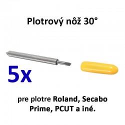 5x plotrový nôž pre plotre Roland a iné značky - 30°