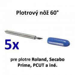 60° plotrové nože pre Roland, Secabo, PCUT, Prime