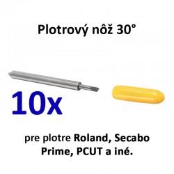 10x plotrový nôž pre plotre Roland a iné značky - 30°
