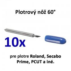 10x plotrový nôž pre plotre Roland a iné značky - 60°