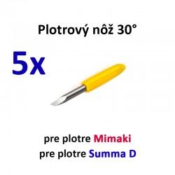 5x Plotrový nôž typu Mimaki a Summa D 30°