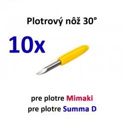 10x Plotrový nôž typu Mimaki a Summa D 30°