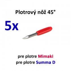5x Plotrový nôž pre Mimaki a Summa D 45°